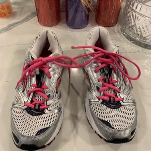ASICS Hot Pink and Silver Sneakers